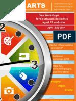 Free Workshops for Southwark Residents - leaflet and timetable
