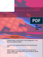 financial planning and taxation in insurance