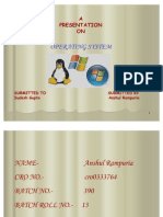 OPERATING SYSTEM- ANSHUL