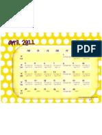Kalender April 2011