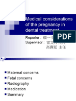 pregnancy in dental treatment