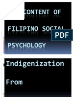 The Content of Filipino Social Psychology