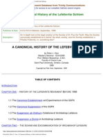 Canonical History of the Lefebvrite Schism
