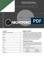 Night Force Reticle Manual