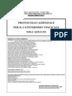 PROTOCOLLO CATETERISMO VESCICALE 2010