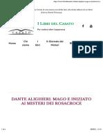 Mayorca Stefano - Dante Alighieri, mago e iniziato ai misteri dei Rosacroce