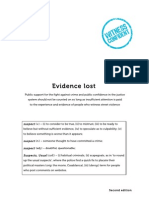 Evidence lost (2nd ed)
