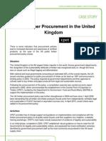 PEFC Case Story - Public Timber Procurement in the United Kingdom