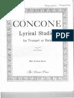 220252881 Giuseppe Concone Lyrical Studies for Trumpet Em C