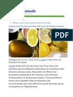 Huile d'olive et Citron