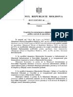 Cu privire la restructurarea administrației publice centrale de specialitate