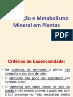 Aula 8 Metabolismo Mineral