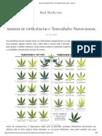 Manual de Deficiências e Toxicidades Nutricionais
