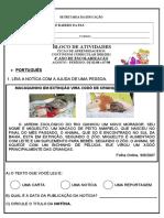 BLOCO DE ATIVIDADES -5 ANO  26 A  31 DE JULHO ADAPTADA