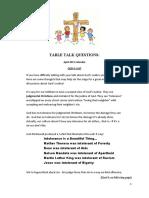 DG4Kids Table Talk Questions (April '11)