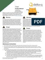 Delta-Q QuiQ BatteryCharger Product Manual Tennant
