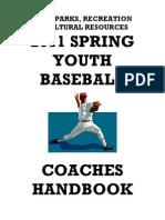 2011 Youth Baseball Handbook