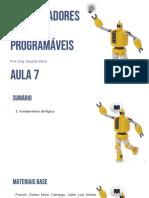 AULA 7 - CONTROLADORES LÓGICOS PROGRAMÁVEIS