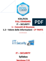ICDL/ECDL FULL STANDARD - IT SECURITY - CONCETTI di SICUREZZA - VALORE delle INFORMAZIONI - PARTE 1_2B