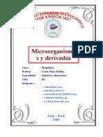 Monografía Microorg. productos Lácteos 4 junio 2009