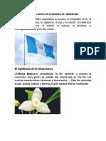 Significado de Los Colores de La Bandera de Guatemala