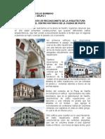 INFORME DE VISITA DE RECONOCIMIETO DE LA ARQUITECTURA DE LA CIUDAD DE PASTO
