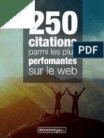 250 Citations Du Web