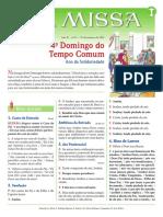 A Missa - Ano B - Nº 15 - 4º Domingo Do Tempo Comum - 31.12.21
