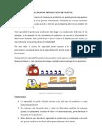 CAPACIDAD DE PRODUCCIÓN DE PLANTA