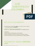 LOS TESTAMENTOS EN COLOMBIA