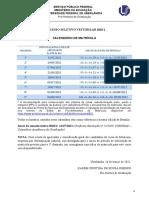 Calendario Matricula Vestibular 2020