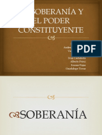 La Soberanía y El Poder Constituyente Miercoles
