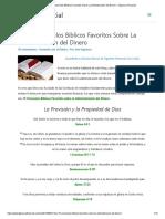 Mis 15 Versículos Bíblicos Favoritos Sobre La Administración del Dinero – Figueroa Financial