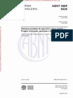 NBR 5626 ; 2020 - Sistemas Predias Água Fria e Água Quente