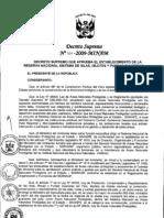 Decreto Supremo 024-2009