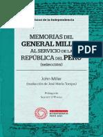Memorias Del General Miller Al Servicio de La Repblica Del Per Seleccin