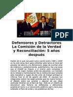 Reportaje Defensores y Detractores CVR