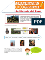 Épocas de La Historia Del Perú Para Segundo Grado de Pimaria Compressed