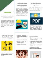 SEGURIDAD SOCIAL EN COLOMBIA folleto