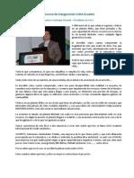 Discurso de Inauguración CIMA Ecuador - Gustavo Manrique