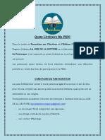 Quizz Littéraire Ma FEDI 2-1