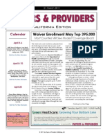 Payers & Providers California Edition – March 31, 2011