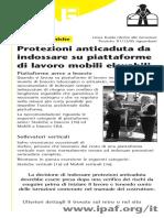 H11205 Protezioni anticaduta da indossare su piattaforme di lavoro mobili elevabili