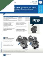 Клапан системы EGR для Volvo 2%2C4 л TDi