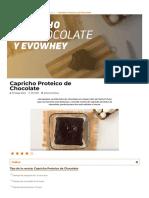 ▷ Capricho Proteico de Chocolate en forma de Bizcocho【HSN Blog】