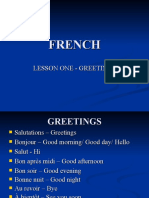 FRENCH – 1 Greetings