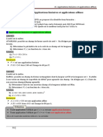 Chapitre13 Applications linéaires et applications affines