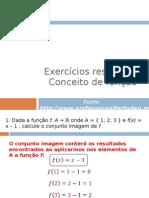 Exercícios resolvidos – Conceito de função