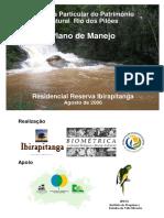 Plano de Manejo da Reserva Ibirapitanga