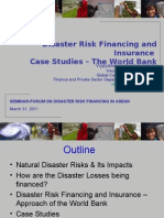 Disaster Risk Financing - World Bank Experience
